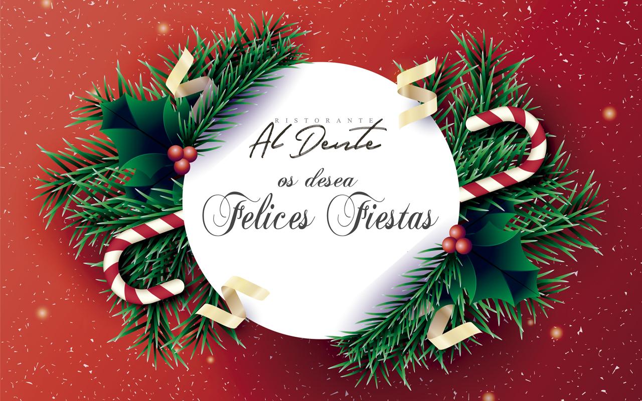 Felices Fiestas desde Restaurante Italiano Al Dente en Rivas