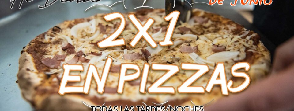 Oferta 2x1 en Pizzas en Ristorante al Dente en el mes de Junio 2021