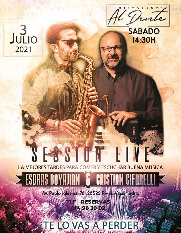 Esdras Boyajian y Cristian Cifarelli en directo el sábado 3 de Julio 14:30h